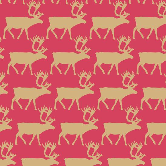 cerfs sur rouge