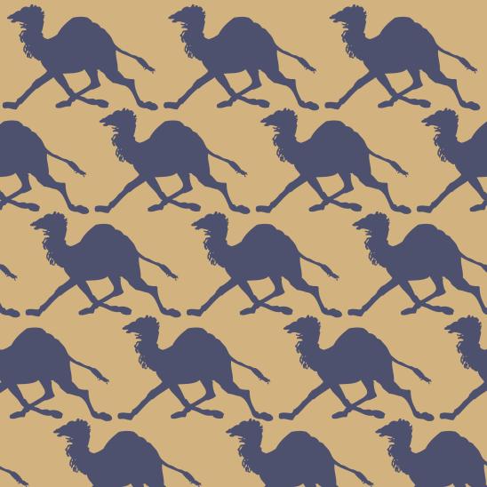 chameaux sur jaune
