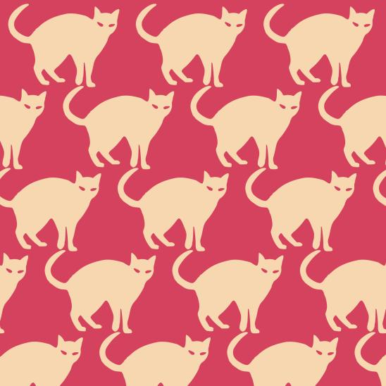chats sur rouge