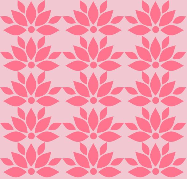 fleur lotus fushia sur rose