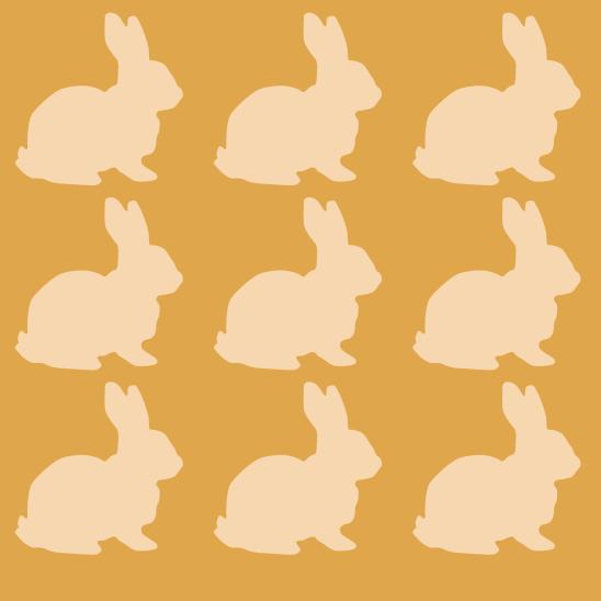 lapins beige sur jaune
