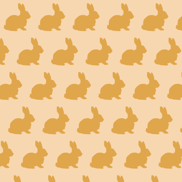 letits lapins jaunes sur beige