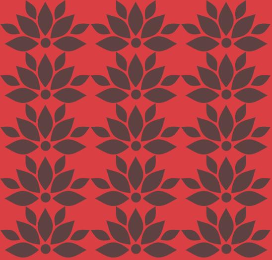 lotus brun sur rouge