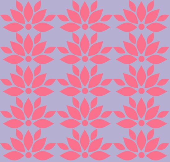 lotus fushia sur mauve