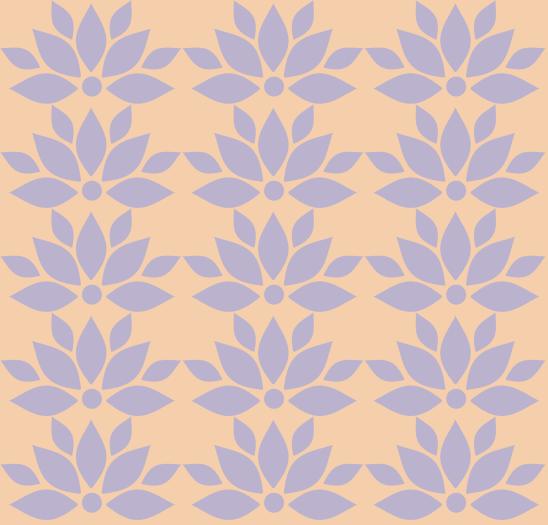 lotus mauve sur jaune pale