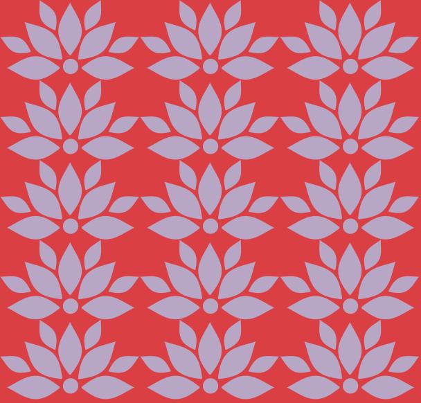 lotus mauve sur rouge