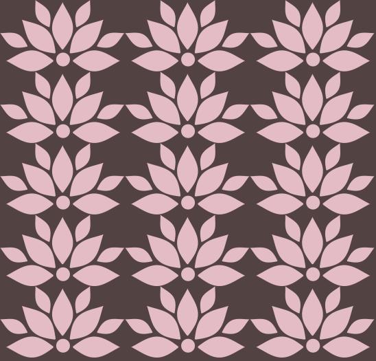 lotus rose sur brun