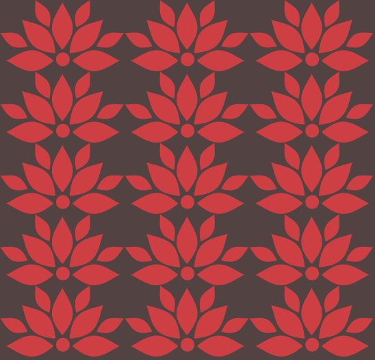 lotus rouge sur brun
