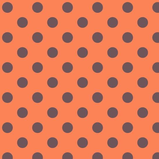 pois bleus sur orange