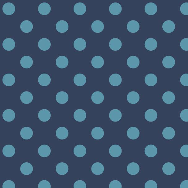 pois turquoise sur bleu
