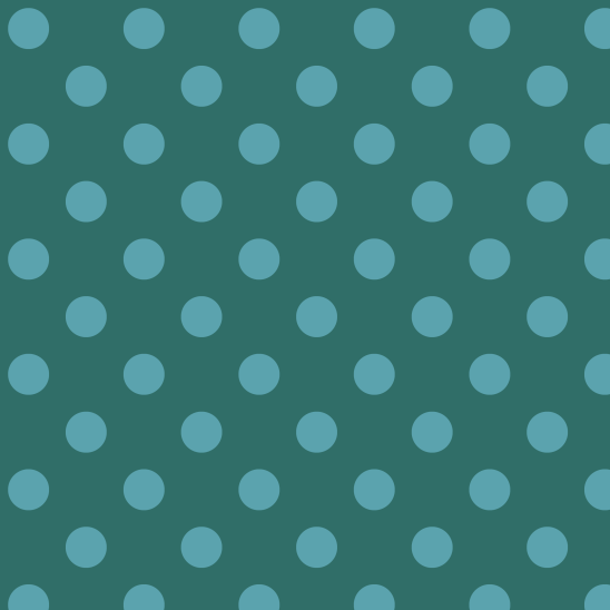 pois turquoise sur vert