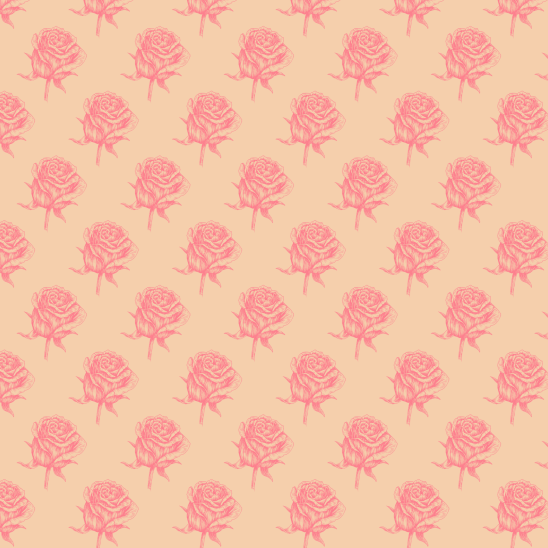 roses fushia sur jaune pale