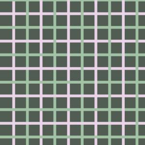 carreaux rose et vert sur vert foncé