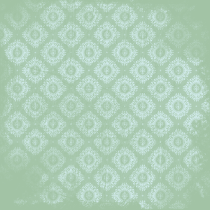 damas bleu sur vert clair
