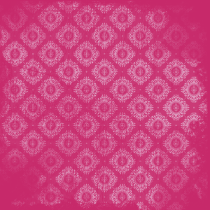 damas rose sur fushia