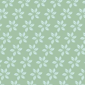 fleurs bleu ciel sur vert clair