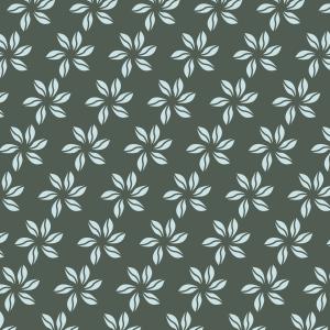 fleurs bleu ciel sur vert foncé