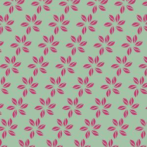 fleurs fushias sur vert clair