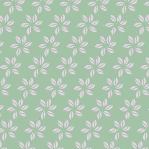 fleurs roses sur vert clair