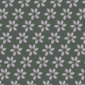 fleurs roses sur vert foncé