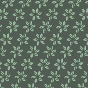 fleurs vert clair sur vert foncé
