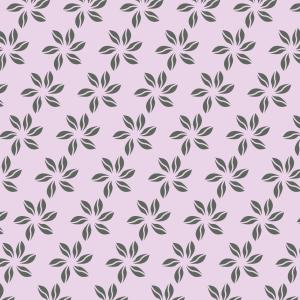 fleurs vert foncé sur rose clair