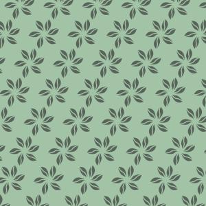 fleurs vert foncé sur vert clair