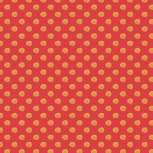 pois jaune sur rouge