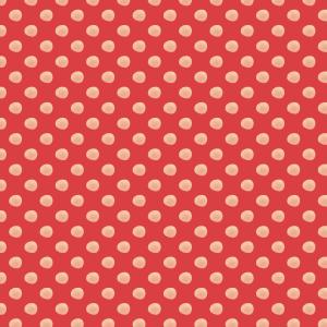 pois paille sur rouge