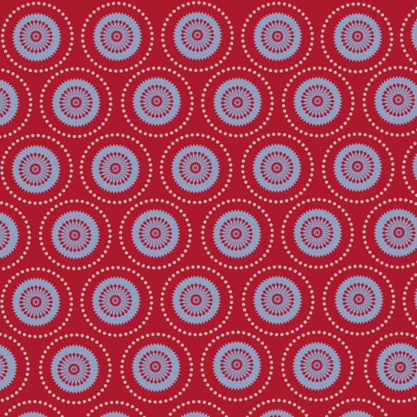 cercles sur rouge