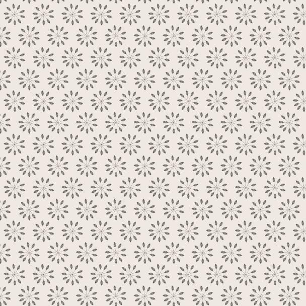 fleurs grises sur fond crème