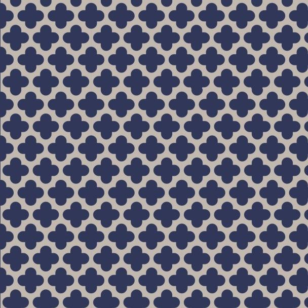 grille bleu marine beige