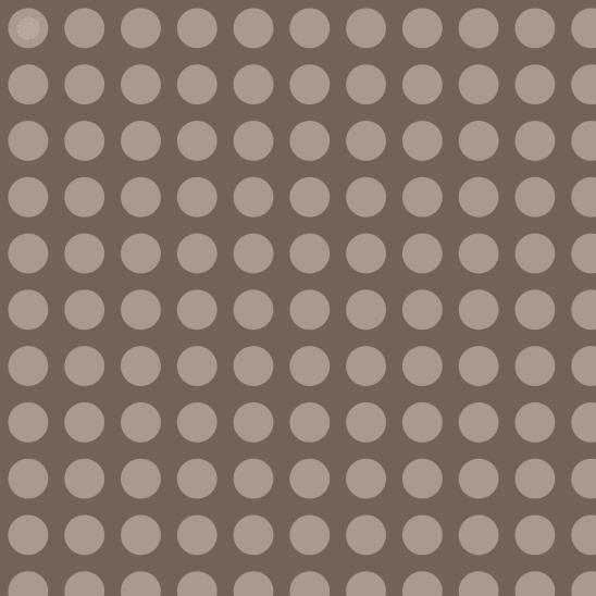 pois alignés beige sur brun