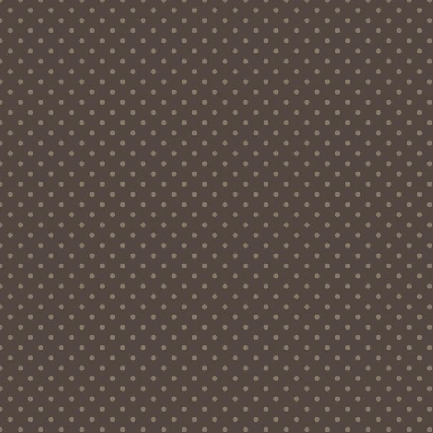 pois crème sur brun