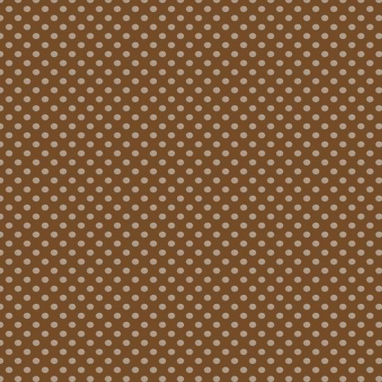 pois crème sur marron