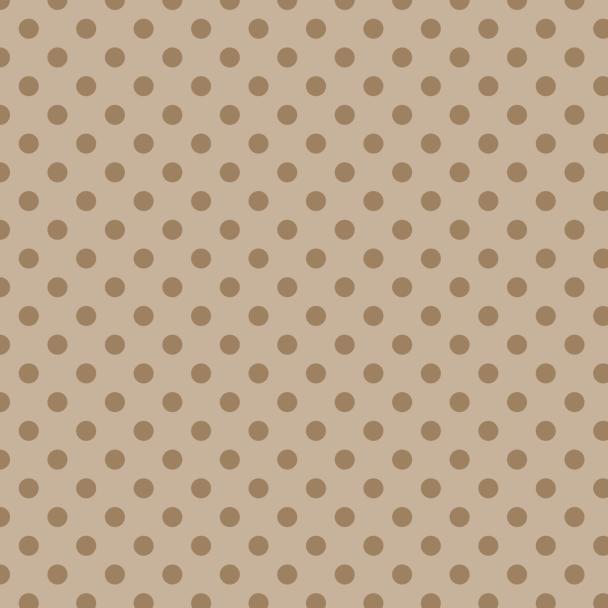 pois moyens bruns sur beige
