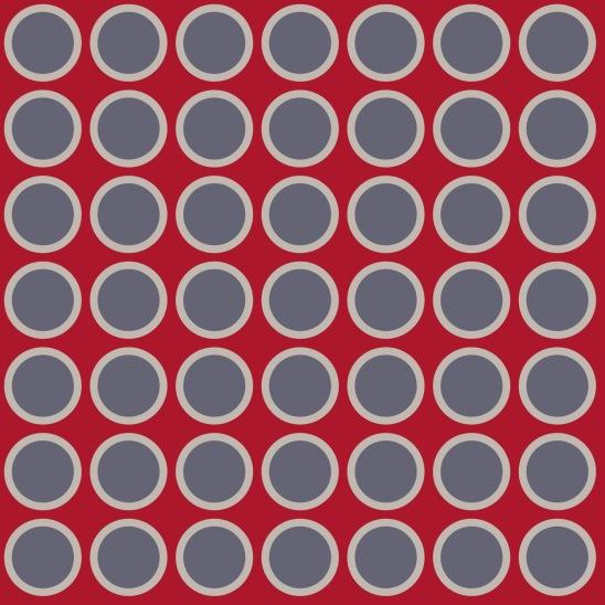 ronds sur fond rouge