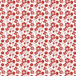 fleuri rouge et blanc