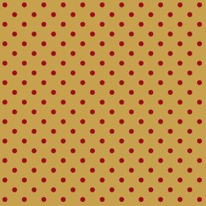 pois rouge sur moutarde