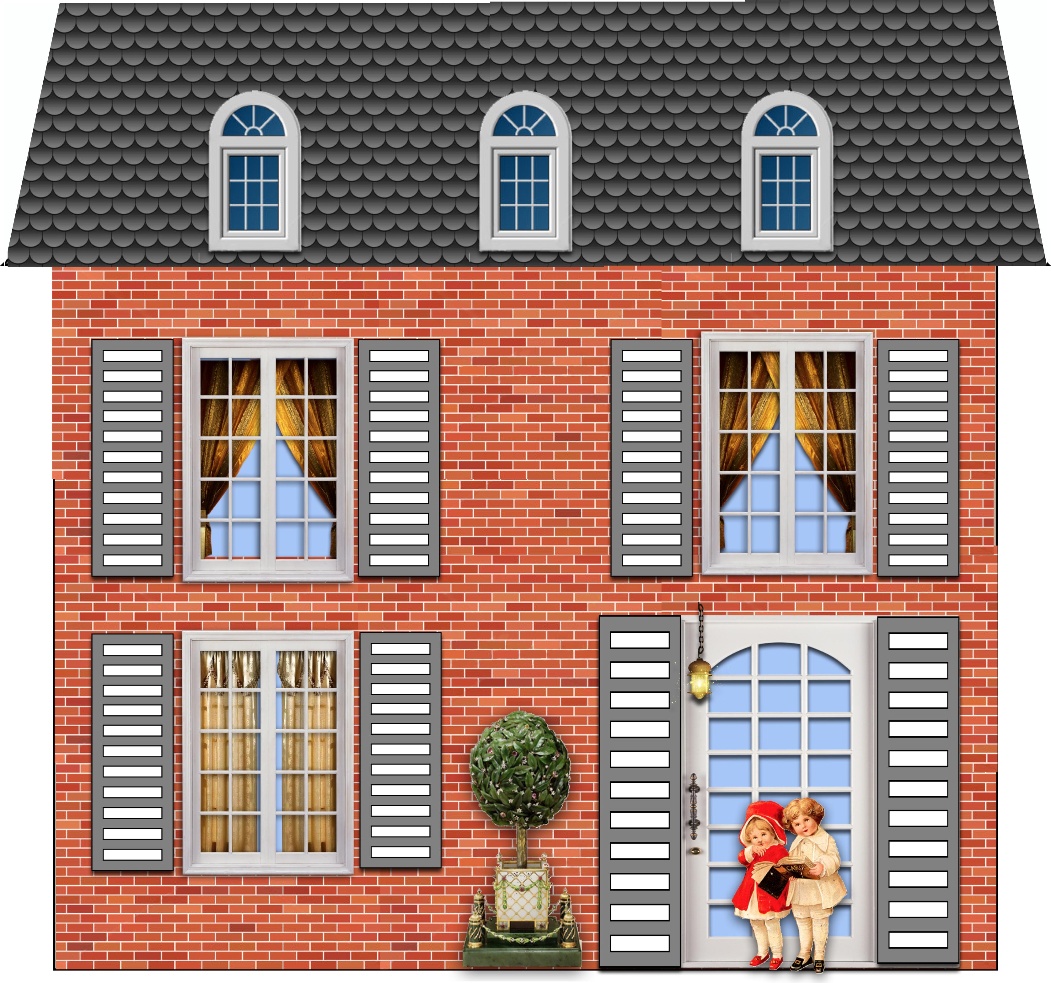 nouvelles petites maisons imprimer et d couper babanew. Black Bedroom Furniture Sets. Home Design Ideas