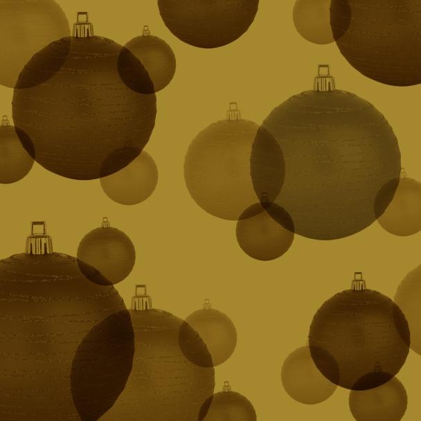 boules sur doré