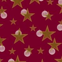 étoiles blanc doré sur bordeau