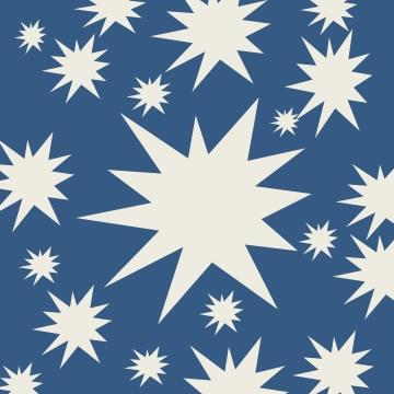étoiles blanches sur bleu