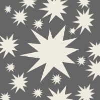 étoiles blanches sur gris