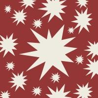 étoiles blanches sur rouge