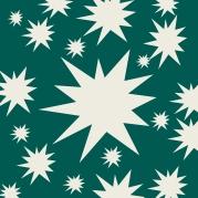 étoiles blanches sur vert