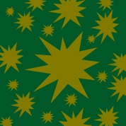 étoiles dorées sur vert