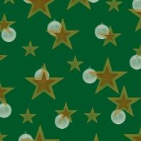 étoiles sur vert doré