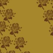 fleurs brunes sur doré