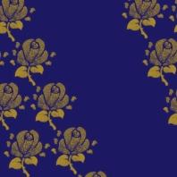 fleurs sur bleu